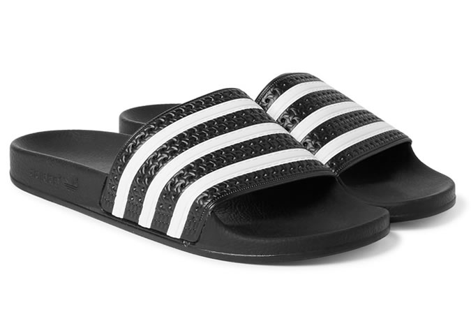 adidas adilette textured rubber slides