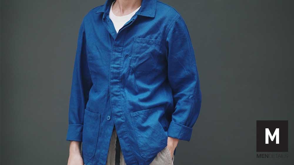 03-เสื้อ-French-Jacket-Vintage-Bleu-de-Travail-Chore-JUNE20