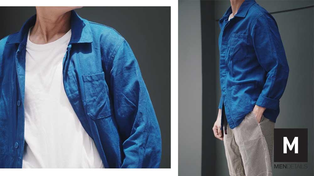 04-เสื้อ-French-Jacket-Vintage-Bleu-de-Travail-Chore-JUNE20